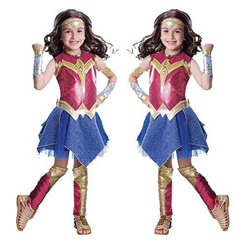 Wonder Woman Kostüm Cosplay Kinder Performance Show Siamese Strumpfhosen Anime Kostüm Halloween Kostüm L (Alte Wonder Woman Kostüm)