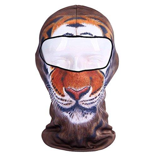 PROACC Balaclava Gesichtsmaske, 3D Gesichtsmaske, Tier Vollgesichtsmaske, zum Angeln, Jagen, Yard Arbeiten, Laufen, Motorradfahren, UV-Schutz, ideal für Männer Frauen