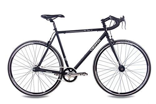 28 Zoll FIXIE Rennrad CHRISSON FG ROAD 1.0 schwarz matt 2016, Rahmengröße:56 cm