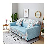 WUFANGFF Slipcover Rosa Blumenmuster Stretch Sofa Gestrickter Stoff Schonbezug Couch Covers Sofa Furniture Protector, 3Seat