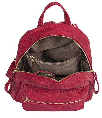 Big Handbag Shop, Borsa a zainetto donna Design 1 - Red