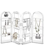 Kurtzy Clear Acrylic Folding Earring Hook Necklace Stand Display Holder Storage Organizer