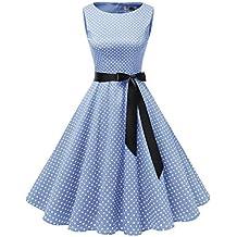 4228f20ebacf Gardenwed Damen 1950er Vintage Cocktailkleid Rockabilly Retro Schwingen  Kleid Faltenrock