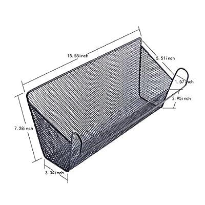 Dormitory Bedside Hanging Storage Supplies Desktop Corner Shelves Basket Holder Containers - Black