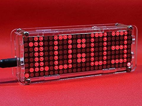 Horloge LED numérique SanSiDo 4 Chiffres Horloge LED Numérique DIY Apprentissage électronique Kit Horloge électronique Température D