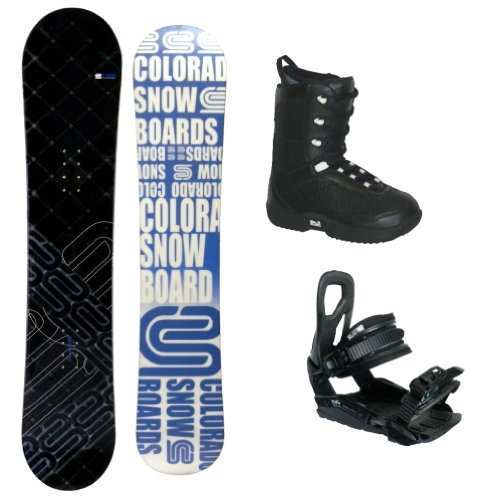 "Snowboardset CSB ""Colorado Black/Blue"" 150 cm + Bindung Snow Pro ""X-Pro"" + Softboots ""C 20"" EU 43 / MP 270"