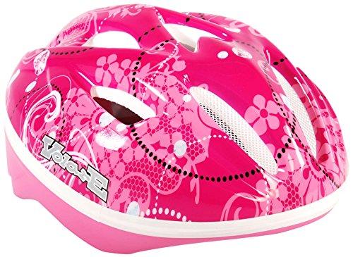 Volare VOLARE00571Flowers Kids Deluxe Bicicletta Skate Casco