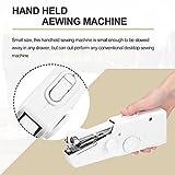 Hermosairis Mini Tragbare Elektrische Handheld Nähmaschine Batteriebetriebene Haushalts Kleidung Stoff Handheld Nähwerkzeug