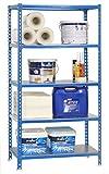 SimonRack SI419 Kit Estantería con 5 Estantes, Azul, Acero inoxidable, 2000 x 1000 x 500 mm