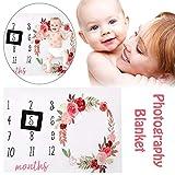 Unbekannt PER Baby Milestone Decke Fotografie Decke Fotografie Hintergrund Prop Teppich Decke für wachsende Säuglinge und Kleinkinder