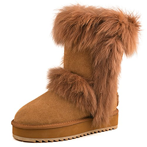 Boots Bottes Shenduo Cuirdaim Hiver Fourrées Femme Plateforme dqaaIw