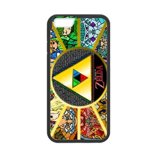 The custom legend of zelda design pC tPU and rubber case cover for iPhone 6 iPhone 6, bol