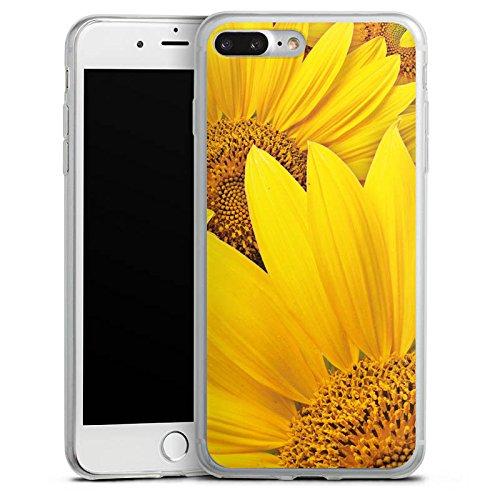 Apple iPhone X Slim Case Silikon Hülle Schutzhülle Sonnenblumen Blüte Gelb Silikon Slim Case transparent