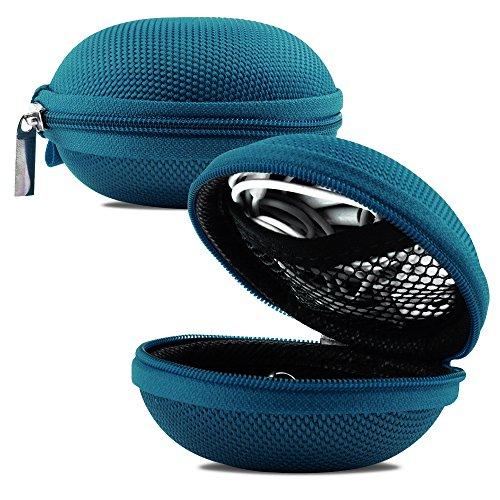 Shelfone ® Premium MP3 Earphone Headphone Zip Case Pouch FOR IPOD TOUCH SHUFFLE IPAD IPHONE 3G 3GS 4 4G 4S 5 5G 5S 5C 6S 6 PLUS Exclusive by Shelfone ® (TEAL GREEN EARPHONE BAG)