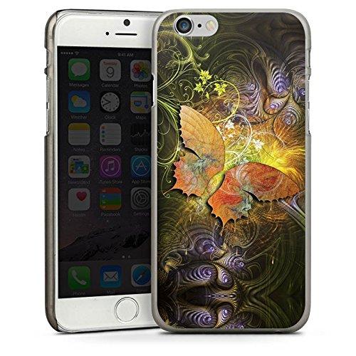 Apple iPhone 4 Housse Étui Silicone Coque Protection Papillons Automne Papillon CasDur anthracite clair