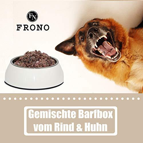 Frostfutter Nordloh Geflügel- und Rindfleischkiste 25 kg - tiefgefrorenes Barfpaket für Hunde- und Katzen