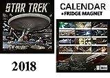 Star Trek navires de ligne officielle Calendrier 2018+ Star Trek Aimant de réfrigérateur...