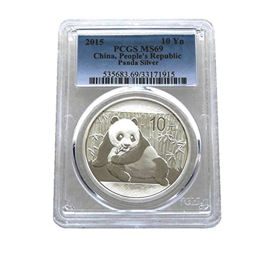 2015-china-panda-10-ten-yuan-solid-999-silver-1oz-coin-certified-slabbed-and-graded-by-pcgs-as-ms69-