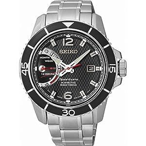Seiko SRG019P1 - Reloj automático para hombre, correa de cuero color negro de Seiko