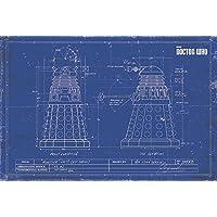 Pyramid International Dalek Blueprint Doctor Who Maxi Poster, Multi-Colour, 61 x 91.5 x 1.3 cm