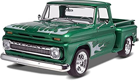 Revell Monogram 1:25 Scale 1965 Chevy Stepside Pickup 2-in-1 Diecast Model Kit