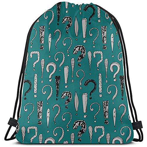 BOUIA Kreative Kunst Zeichensetzung Sport Kordelzug Tasche Polyester Gym Kordelzug String String Rucksack Männer für Gym Reisen