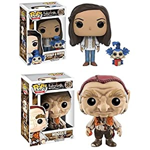 Funko POP Labyrinth Sarah and Worm Hoggle Movie Vinyl Figure Set NEW