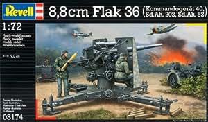 Revell 8.8cm 1:72 Scale Flak 36 Mit Sd.Ah. 202