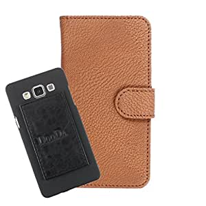 DooDa PU Leather Wallet Flip Case Cover With Card & ID Slots For Karbonn A21