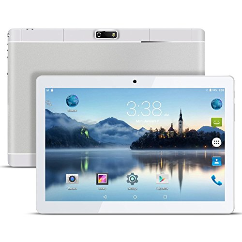 Android Tablet PC 9,6 Zoll PADGENE 16G Speicher 1G RAM 1280x800 Quad Core CPU Google Tablet PC Dual-SIM Slots USB/SD Dual Kamera 0.3MP und 3MP WiFi/3G Entsperrt Bluetooth 4,0 GPS Telefonfunktion - Edge 2gb Pc