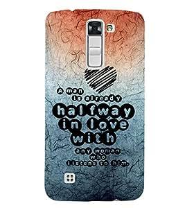EPICCASE impressive heart Mobile Back Case Cover For LG K7 (Designer Case)