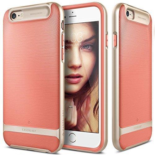 Caseology Funda iPhone 6, [Serie Wavelength] Delgada Doble Capa con Proteccion sujecion tactil 3D [Rosado - Pink] para el Apple iPhone 6 (2014) & iPhone 6S (2015)