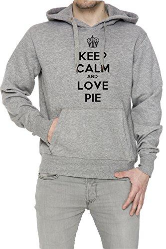 keep-calm-and-love-pie-hombre-sudadera-con-capucha-pullover-gris-algodon-mens-hoodie-sweatshirt-pull