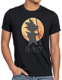 style3 Goku Dragon Moonlight Herren T-Shirt ball