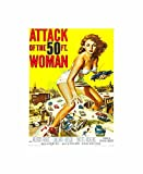 Advert Movie Film Cult Classic 50 Foot Woman Attack USA Poster Print