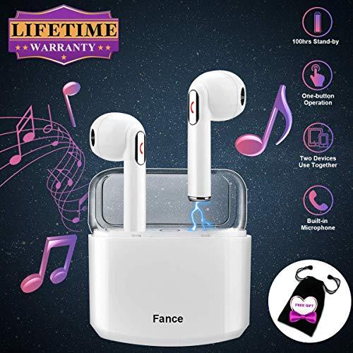Auriculares Inalambricos, Auriculares Bluetooth Inalámbricos áuriculares In Ear Inalambricos con Micrófono áuriculares Bluetooth Mini Estéreo Para iPhone 6 7 8 Plus X XR XS MAX Samsung Android iOS