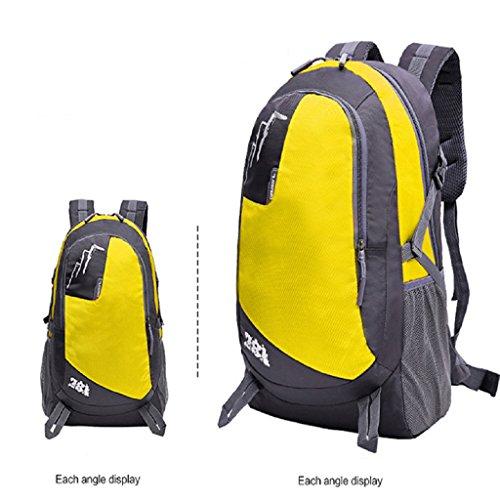 Loveso-Wanderrucksäcke Outdoor-Klettern Wandern Camping Bergsteigen Reisen wasserdichter Rucksack-Tasche (Rot) Gelb