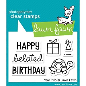 Lawn Fawn Year Two Belated Birthday Clear Stamps LF510