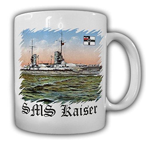 SMS Kaiser type bateau Kaiser Classe bataille dans en marine impériale de Bateau de la Kaiserliche Chantier naval Kiel 1911 de Course empilable - Tasse à café # 16955