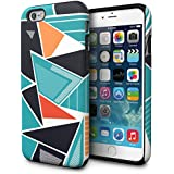 Funda iPhone 6S, TORU [Dual Layer Pattern] Funda pattern de diseñador para iPhone 6s [Diseño de doble capa protectora][Slim][diseño][dibujos] para iPhone 6/6s - Geometric Mashup
