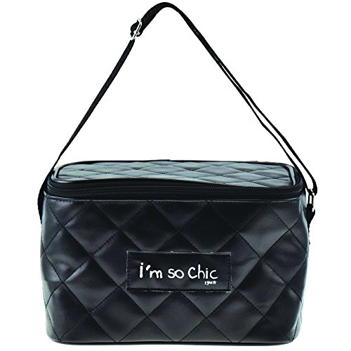 Incidenza paris 61982 portaprovette m i' m so chic, polivinilcloruro, nero, 21,5 x 15 x 13,5 cm
