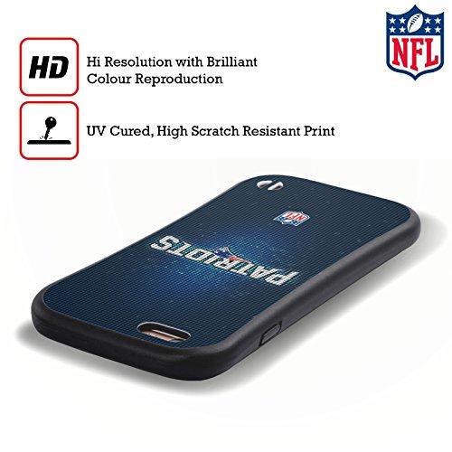 Ufficiale NFL Marmo 2017/18 New England Patriots Case Ibrida per Apple iPhone 7 Plus / 8 Plus LED