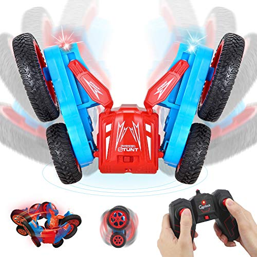 GoStock Ferngesteuertes Auto, 1:24 Maßstab RC Stunt Auto 2.4Ghz 4WD RC Auto 360 Grad Drehbar 180 Grad Drehbar Flipping für Kinder