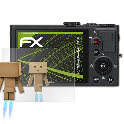 atFoliX Displayfolie kompatibel mit Nikon Coolpix P310 Spiegelfolie, Spiegeleffekt FX Schutzfolie