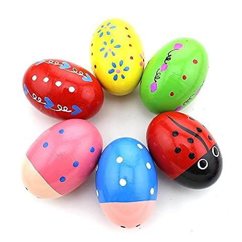 Oeuf musical Maracas Plastique Egg Shaker Hochet enfant Jouets 5pcs Couleurs assorties 10 Pieces