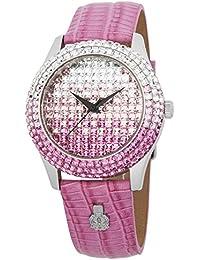 Burgmeister Rainbow BMY01-144B - Reloj analógico de cuarzo para mujer, correa de cuero color rosa