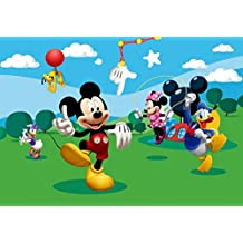 Mickey Mouse - Minnie Mouse, Donald Ducky And Friends, A Playful Afternoon Póster Fotomural (360 x 254cm)