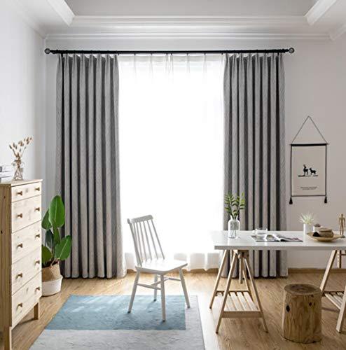 Naturer Vorhänge Wohnzimmer 245x140 Kräuselband Grau Modern Gardinen Blickdicht Geometrisches...