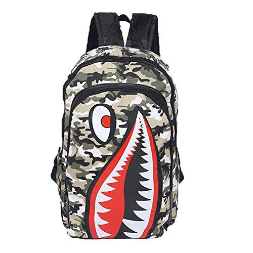 Ohmais Rücksack Rucksäcke Rucksack Backpack Daypack Schulranzen Schulrucksack Wanderrucksack Schultasche Rucksack für Schülerin Camouflage