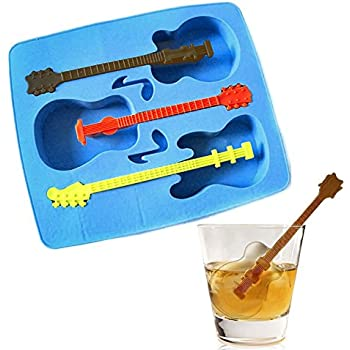 RIANZ Silicone Guitar Shape Ice Mould (Multicolour)